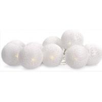 Linder Exclusiv Vánoční LED osvětlení 10 bílých koulí LK022-RK - Studená bílá