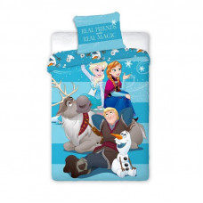 Dětské povlečení 140 x 200 cm Frozen - Anna, Elza, Olaf, Kristoff a Sven Preview
