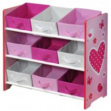 Organizér na hračky - růžový se srdíčkem Preview