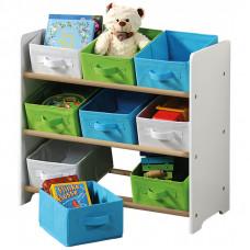 Organizér na hračky bílý s barevnými boxy Preview