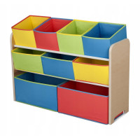 Organizér na hračky - naturální-multicolor