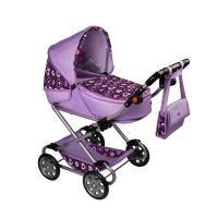 Dětský kočárek pro panenky 2v1 New Baby Andrea - fialový