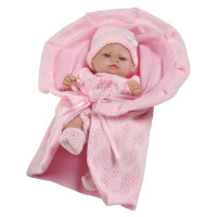 Berbesa luxusní dětská panenka-miminko Valentina 28 cm