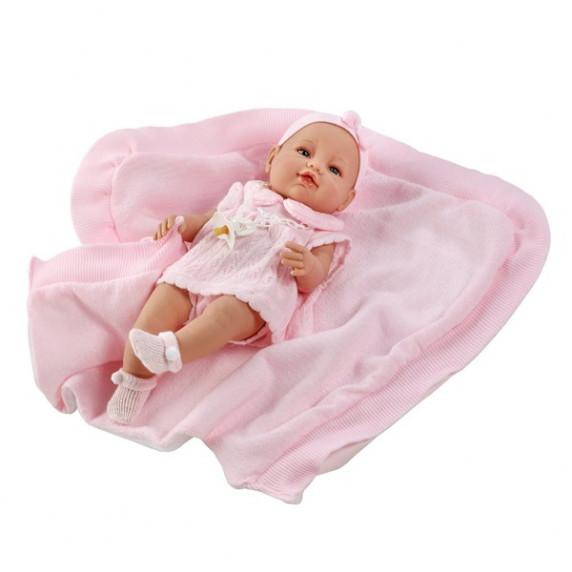 Berbesa luxusní dětská panenka-miminko Ema 39 cm
