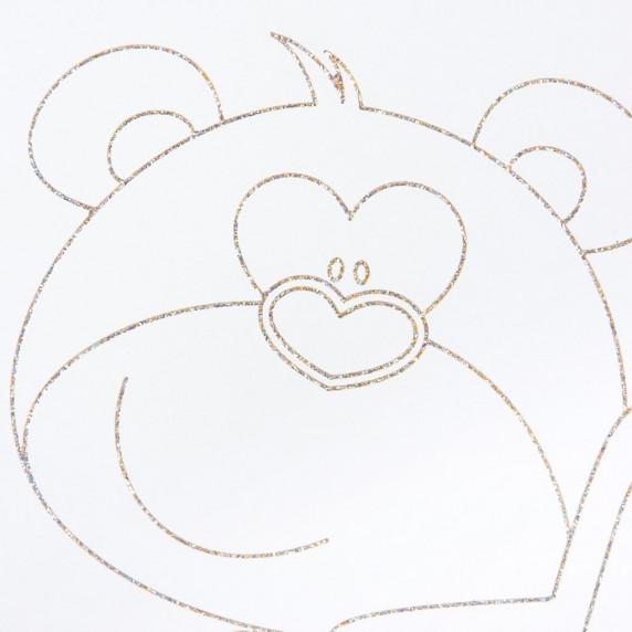 Dětská komoda New Baby Medvídek s hvězdičkou dub