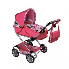 Dětský kočárek pro panenky 2v1 New Baby Veronika - růžový Preview