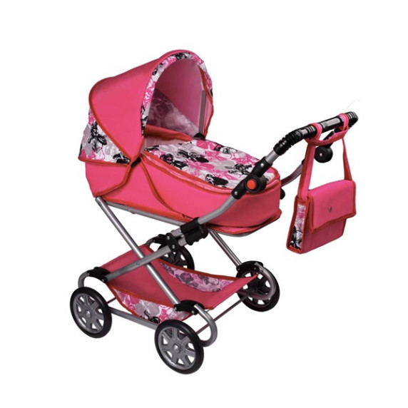 Dětský kočárek pro panenky 2v1 New Baby Veronika - růžový