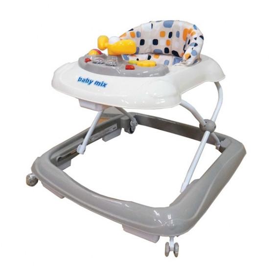 Dětské chodítko s volantem a silikonovými kolečky  Baby Mix - beige