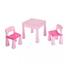 NEW BABY Dětská sada stoleček a dvě židle - růžová Preview