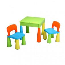 NEW BABY dětská sada stoleček a dvě židle - multicolor Preview