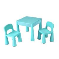 NEW BABY dětská sada stoleček a dvě židle - modrá
