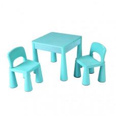 NEW BABY dětská sada stoleček a dvě židle - modrá Preview