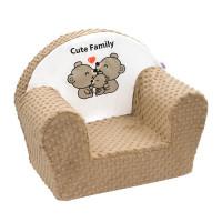 New Baby dětské křeslo z Minky Cute Family - Cappuccino