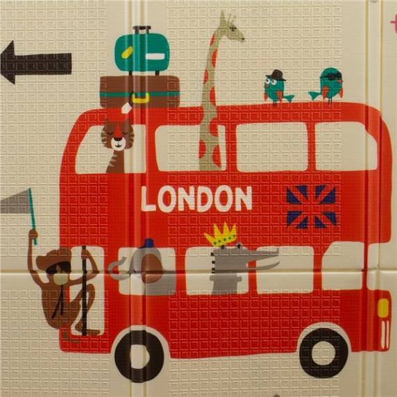 Playtime Multifunkční skládací hrací podložka - London