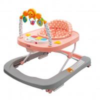 New Baby dětské chodítko se silikonovými kolečky Forest Kingdom - Pink