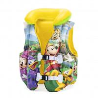 Nafukovací záchranná vesta pro děti Mickey Roadster BESTWAY 98014 51x46 cm