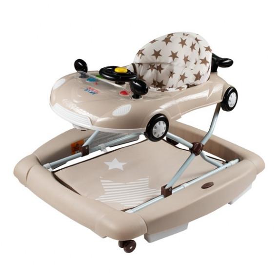 New Baby dětské chodítko s houpačkou a silikonovými kolečky Little Racing Car