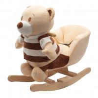 Houpací hračka s melodií PlayTo Medvedík pruhovaný