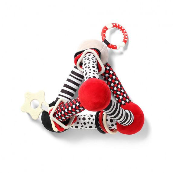 Edukační hračka Baby Ono pyramida Tiny Yoga - červená