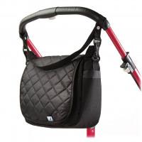 Prošívaná taška na kočárek CARETERO - černá