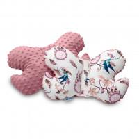 Vankúšik Motýlik z Minky Sensillo ružový vtáčiky