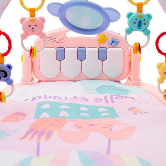 BAYO hrací deka s pianem růžová