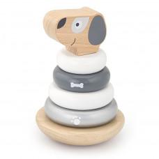 Dřevěná skládací pyramida pro nejmenší Viga Stacking Puppy - Psík Preview
