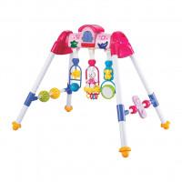 Dětská hrající edukační hrazdička BAYO premium - růžová
