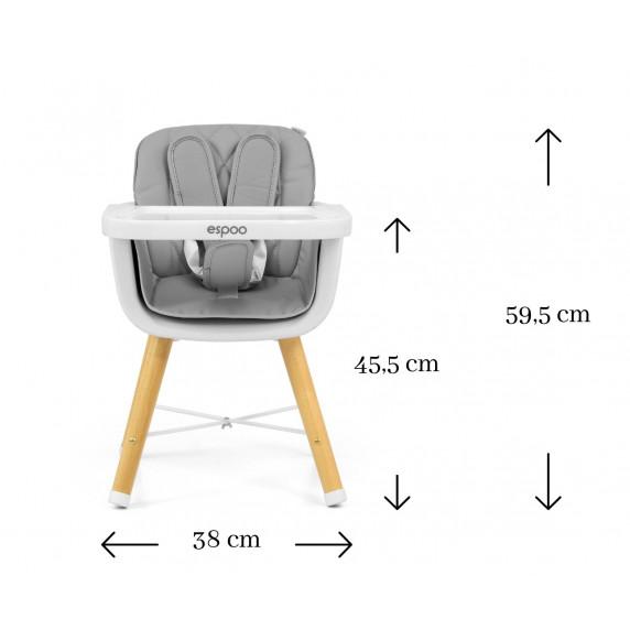 Jídelní židle Milly Mally 2v1 Espoo růžová