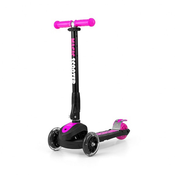 Dětská koloběžka Milly Mally Magic Scooter růžová