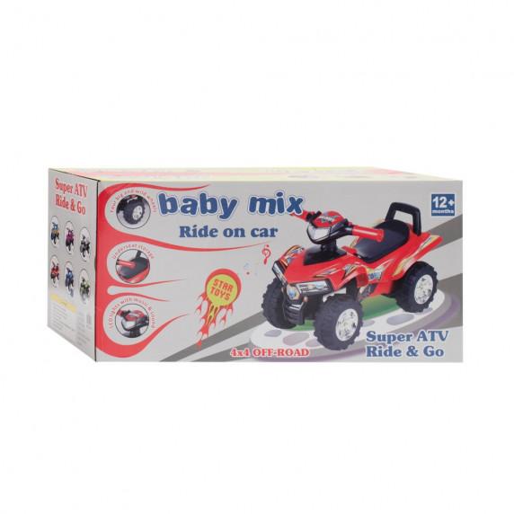 Dětské odrážedlo se zvukem Čtyřkolka Baby Mix - modré