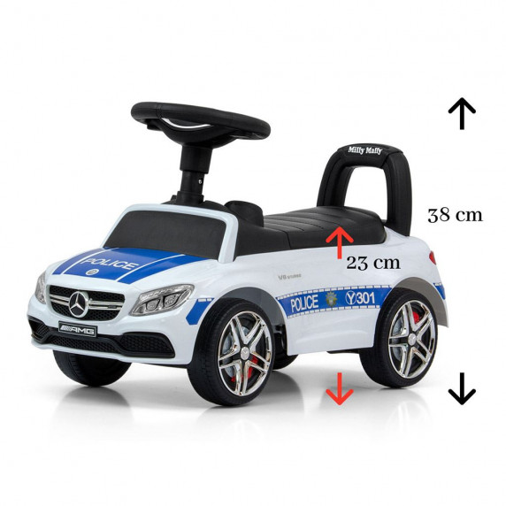 Dětské odrážedlo Mercedes Benz AMG C63 Coupe Milly Mally - Police