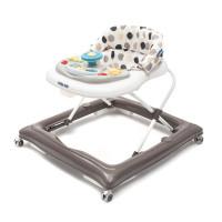 Dětské chodítko Baby Mix s volantem a silikonovými kolečky - latte