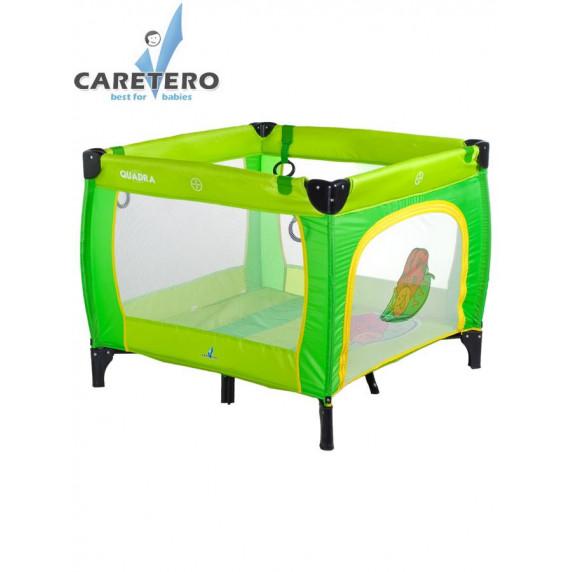 Dětská skládací ohrádka CARETERO Quadra zelená