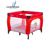 Dětská skládací ohrádka CARETERO Quadra červená