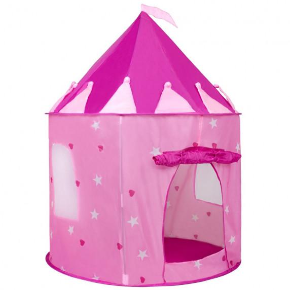 Dětský stan Play To hrad růžový