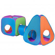 Play To Dětský stan 3v1 oranžovo-modrý Preview