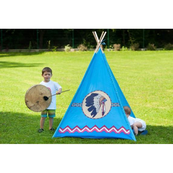 Dětský indiánský stan teepee Playtime modrý