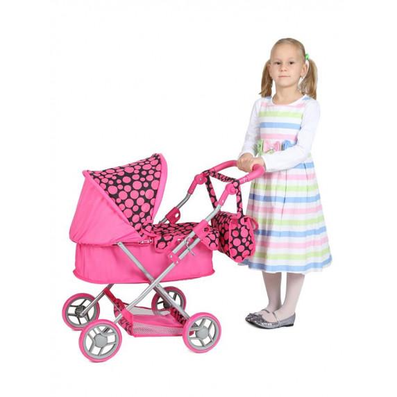 Dětský kočárek pro panenky Play TO Viola bledě-růžový