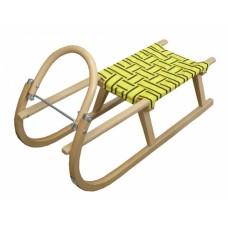 Sáně dřevěné s popruhy 95CM žluté Preview