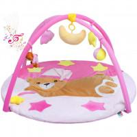 Hrací deka s melodií Playtime spací medvídek růžová