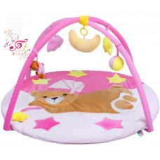 Hrací deka s melodií Playtime spací medvídek růžová Preview