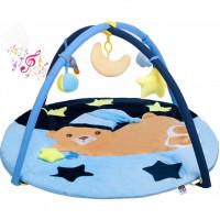 Hrací deka s melodií Playtime spací medvídek modrá