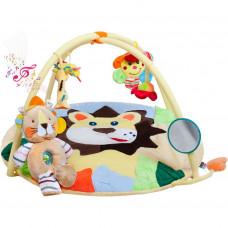 Hrací deka s melodií Playtime lvíče s hračkou Preview