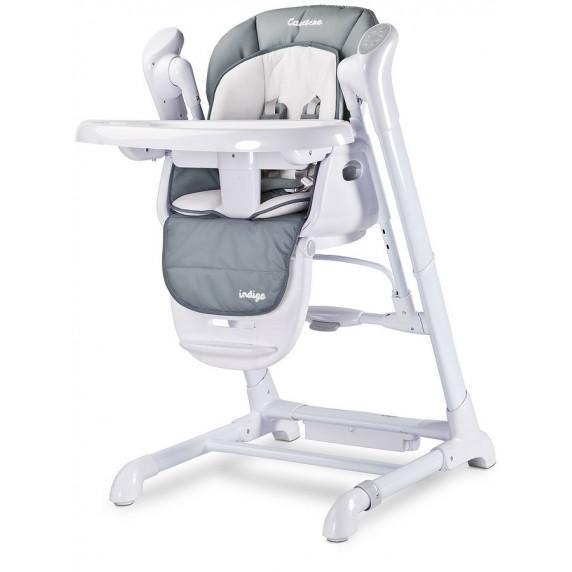 Dětská jídelní židlička 2v1 Caretero Indigo šedá