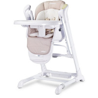 Dětská jídelní židlička 2v1 Caretero Indigo béžová