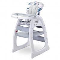 Jídelní židlička CARETERO Home - šedá