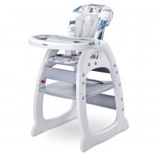 Jídelní židlička CARETERO Home - šedá Preview