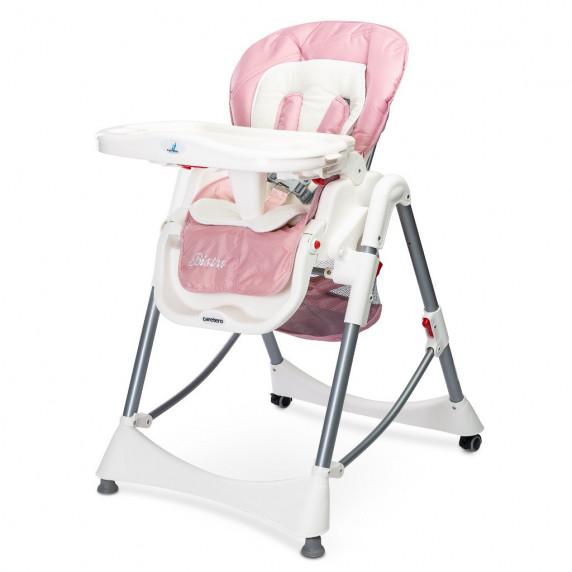 Jídelní židlička Caretero BISTRO růžová