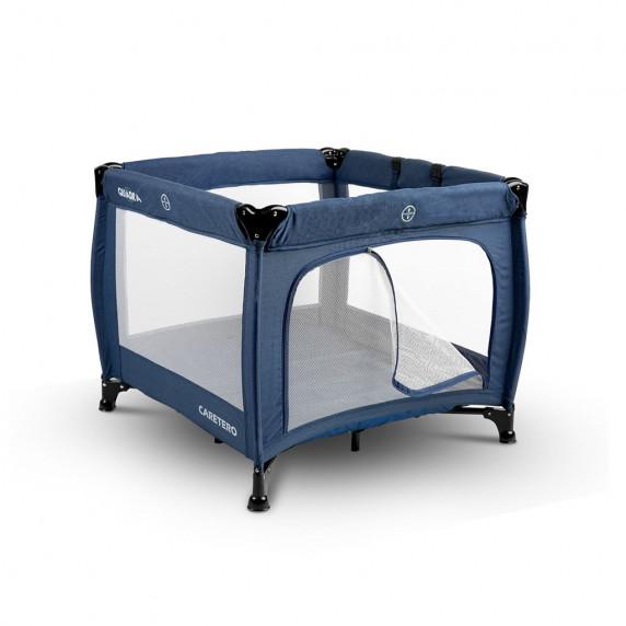 Detská skladacia ohrádka CARETERO Quadra - modrá